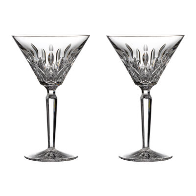 "Waterford Crystal ""Gift Bar"" Set of Two Lismore Martini Glasses, , default"