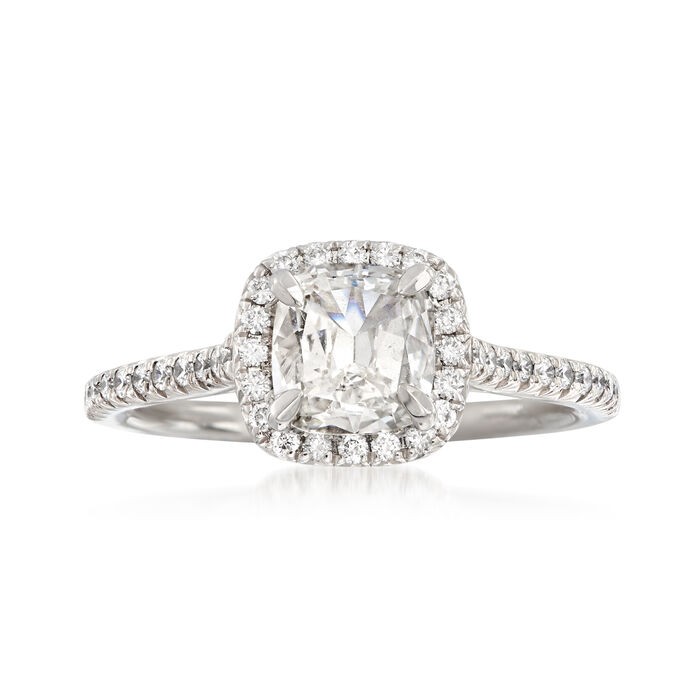 Henri Daussi 1.17 ct. t.w. Certified Diamond Engagement Ring in 18kt White Gold