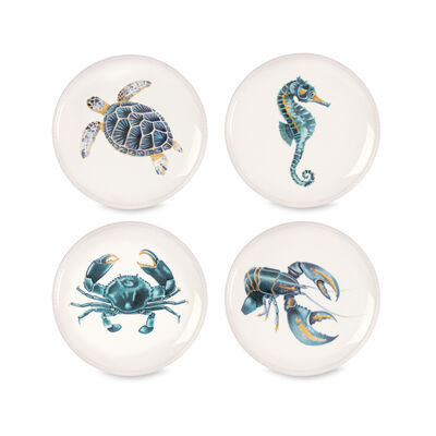 "Fitz and Floyd ""Cape Coral"" Porcelain Plates , , default"