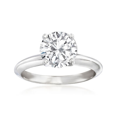 2.01 Carat Certified Diamond Solitaire Engagement Ring in 14kt White Gold