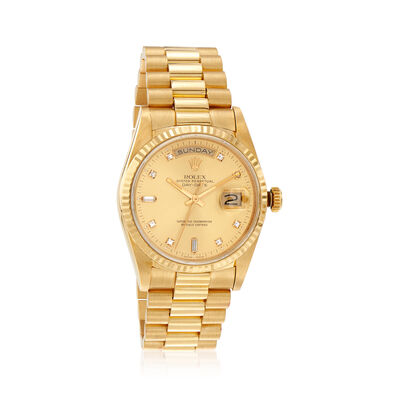 Pre-Owned Rolex Day-Date Men's 36mm Automatic Watch in 18kt Yellow Gold, , default