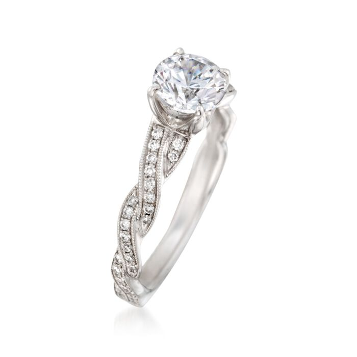 Simon G. .20 ct. t.w. Diamond Engagement Ring Setting in 18kt White Gold