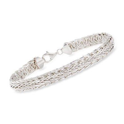 Sterling Silver Medium Wheat-Link Bracelet, , default