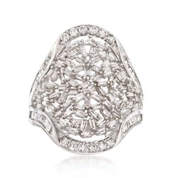 1.00 ct. t.w. Diamond Cluster Ring in 14kt White Gold, , default