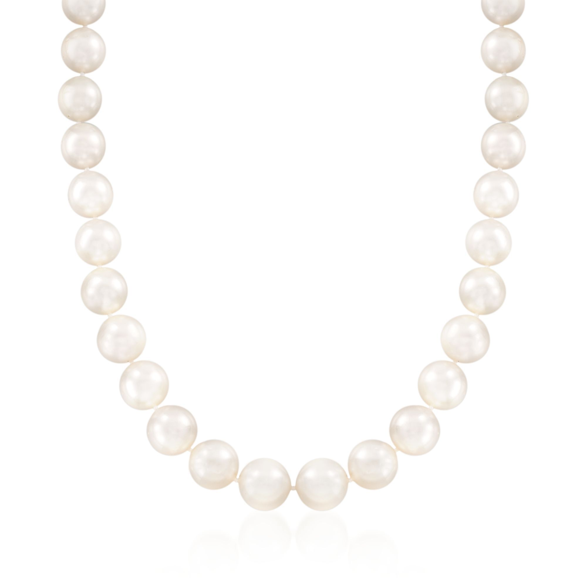 """huge 12-14mm White Akoya Cultured Pearl Jewelry Necklace 18/"""" AA++"""