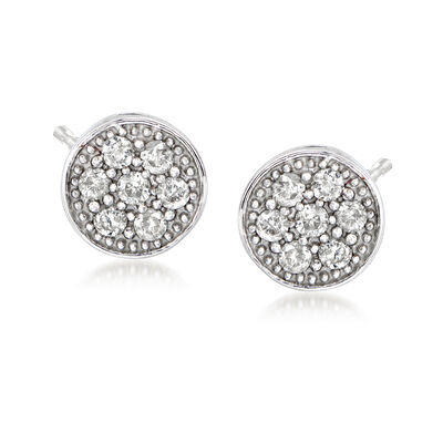 .25 ct. t.w. Diamond Cluster Earrings in Sterling Silver