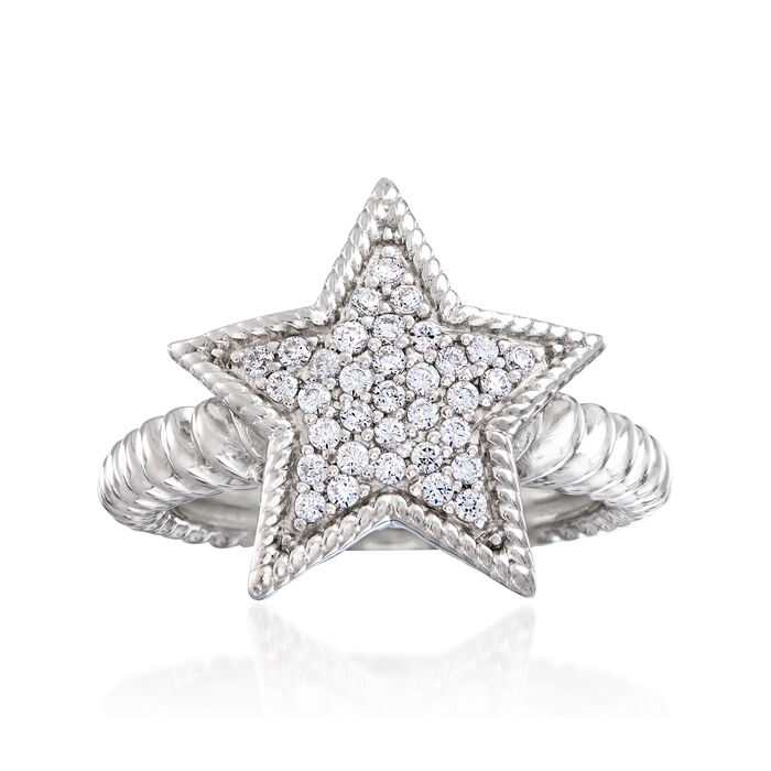 .33 ct. t.w. Diamond Star Ring in Sterling Silver, , default