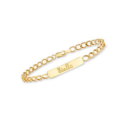 Child's 14kt Yellow Gold Name ID Bracelet, , default