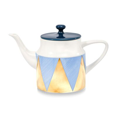 "Lenox and Luca Andrisani ""Blue Azzurro"" Porcelain Angles Teapot, , default"