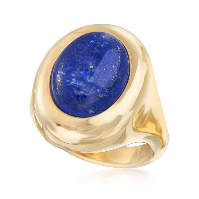 Andiamo 14kt Yellow Gold and Lapis Ring