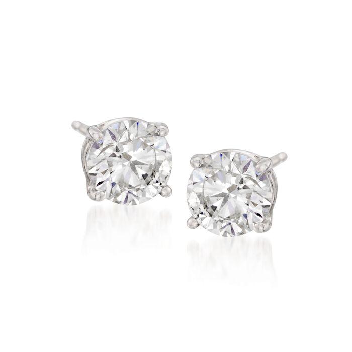 4.00 ct. t.w. CZ Stud Earrings in Sterling Silver, , default