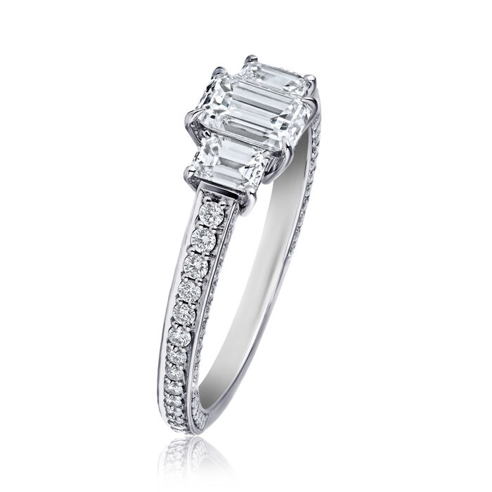 1.50 ct. t.w. Diamond Three-Stone Ring in Platinum