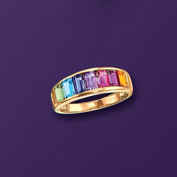 2.20 ct. t.w. Multi-Stone Ring in 14kt Yellow Gold, , default