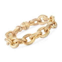 Andiamo Italian 14kt Yellow Gold Cable Link Bracelet, , default