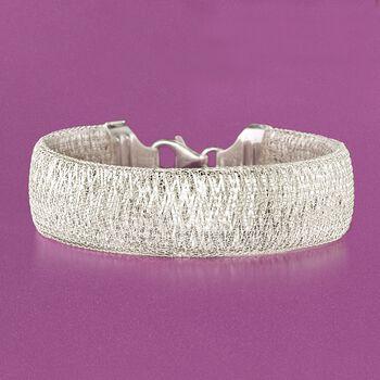 "Italian Sterling Silver Mesh Bracelet. 7"", , default"