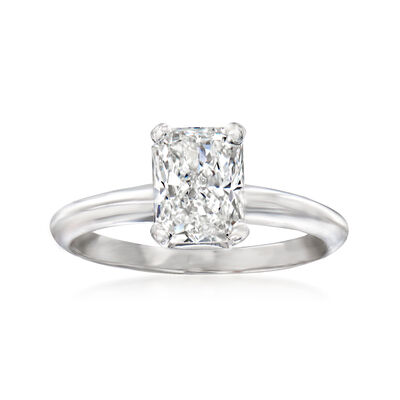 1.90 Carat Certified Diamond Solitaire Ring in 14kt White Gold