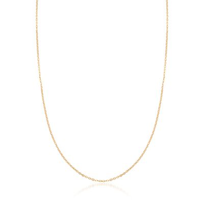 18kt Yellow Gold 1.5mm Cable Link Necklace, , default