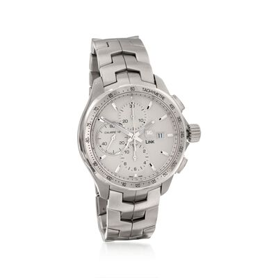 TAG Heuer Link Men's 43mm Chronograph Stainless Steel Watch , , default