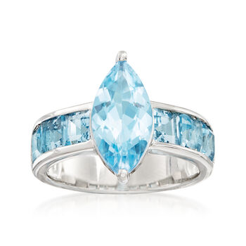 17.02 ct. t.w. Mixed-Gemstone Jewelry Set: Two Interchangeable Rings with 1.32 ct. t.w. White Topaz Ring Wrap in Sterling Silver, , default