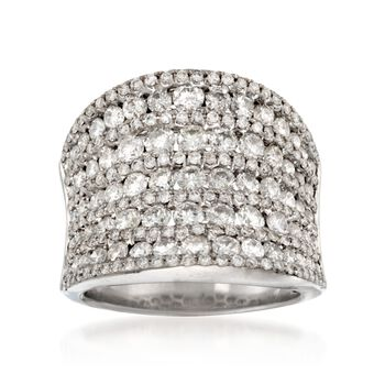 4.27 ct. t.w. Wide Diamond Ring in 14kt White Gold, , default