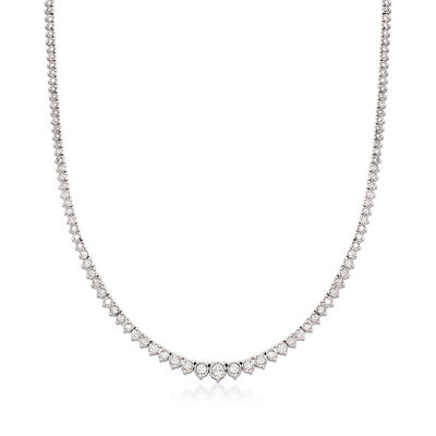 C. 2000 Vintage 3.50 ct. t.w. Diamond Tennis Necklace in 14kt White Gold