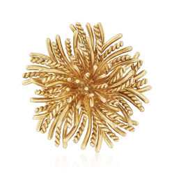 C. 1970 Vintage Tiffany Jewelry 18kt Yellow Gold Starburst Pin, , default