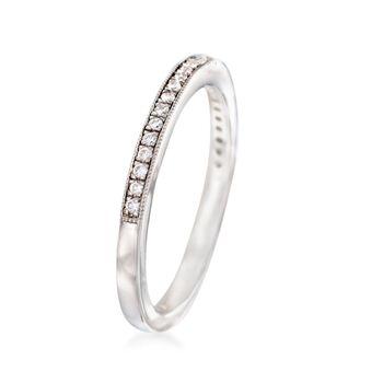 Gabriel Designs .15 ct. t.w. Diamond Wedding Ring in 14kt White Gold