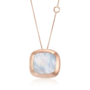 """Roberto Coin """"Carnaby Street"""" Mother-Of-Pearl Pendant Necklace in 18kt Rose Gold. 28"""", , default"""