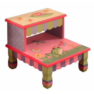 Magic Garden Footed Step Stool, , default