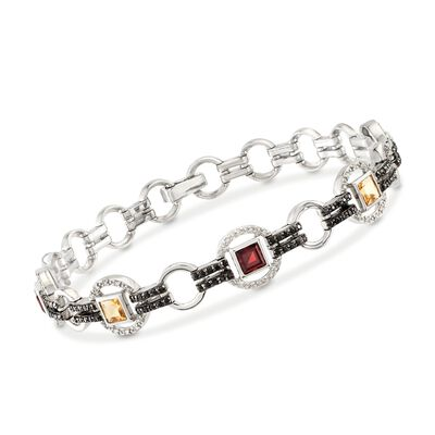 2.55 ct. t.w. Multi-Stone Bracelet in Sterling Silver, , default