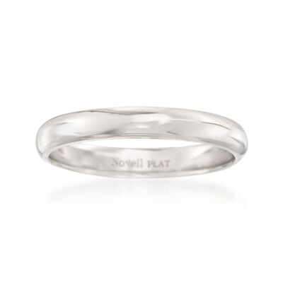 Women's 3mm Platinum Wedding Ring, , default