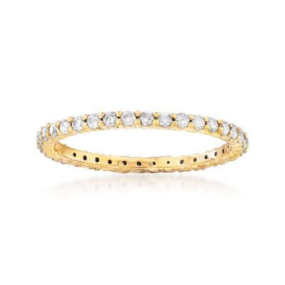 .50 ct. t.w. Diamond Eternity Band in 18kt Gold Over Sterling, , default