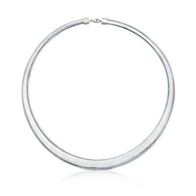 Italian Flex Omega Necklace with Sterling Silver, , default
