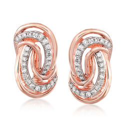 .21 ct. t.w. Diamond Swirl Earrings in 14kt Rose Gold, , default