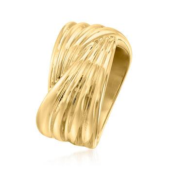 Italian Andiamo 14kt Yellow Gold Crossover Ring