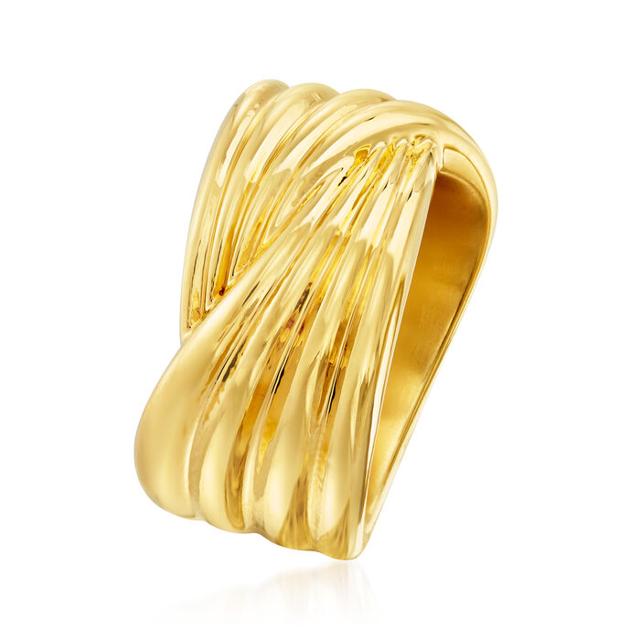 Italian Andiamo 14kt Yellow Gold Crossover Ring