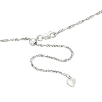 Engravable Heart Locket Pendant Necklace in Sterling Silver