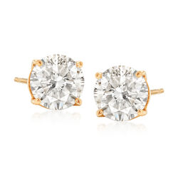 2.00 ct. t.w. Diamond Stud Earrings in 18kt Yellow Gold, , default