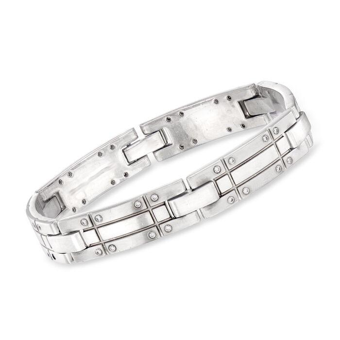 C. 2000 Vintage Tiffany Jewelry .50 ct. t.w. Diamond Link Bracelet in 18kt White Gold