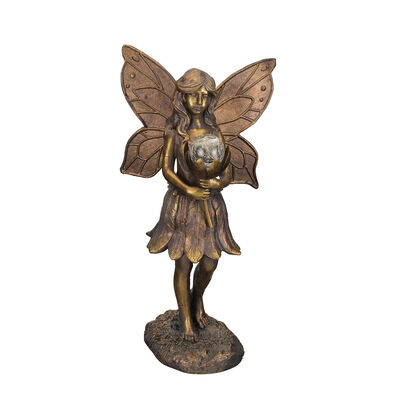Regal Outdoor Solar Fairy Garden Statue