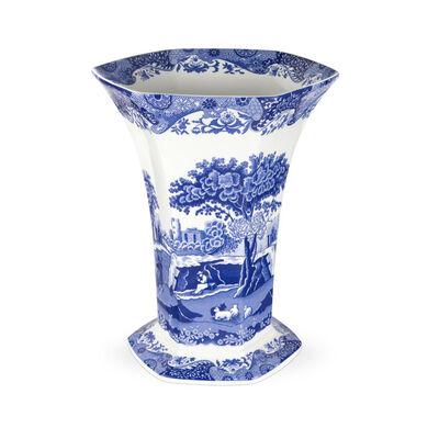 """Spode """"Blue Italian"""" Hexagonal Vase"""