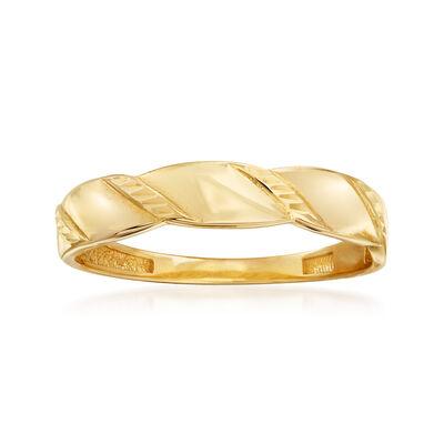14kt Yellow Gold Swirl-Top Ring