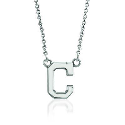 "Sterling Silver MLB Cleveland Indians Pendant Necklace. 18"", , default"