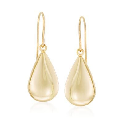 14kt Yellow Gold Teardrop Earrings, , default