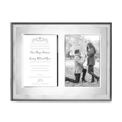 "Reed & Barton ""Kenlie"" Double 5x7 Photo Frame, , default"