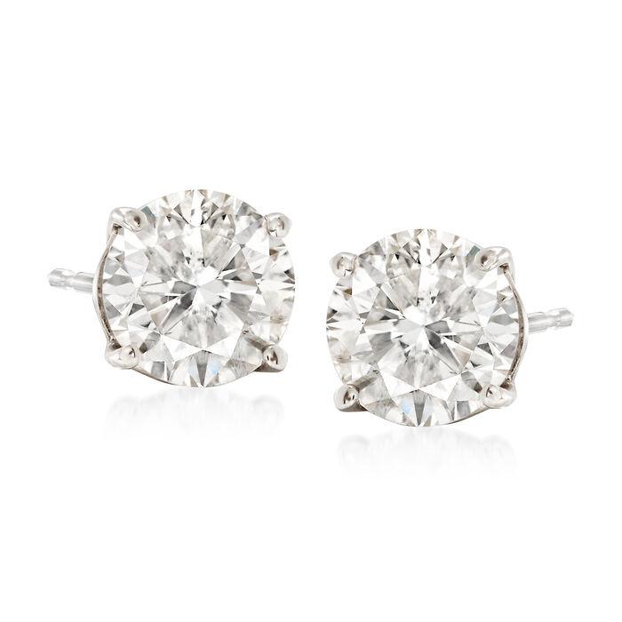 2.25 ct. t.w. Diamond Stud Earrings in 14kt White Gold, , default