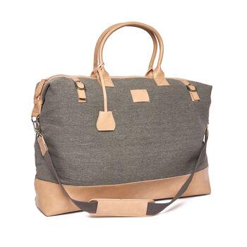 """Brouk & Co. """"Hartford"""" Light Gray Weekender Bag"""
