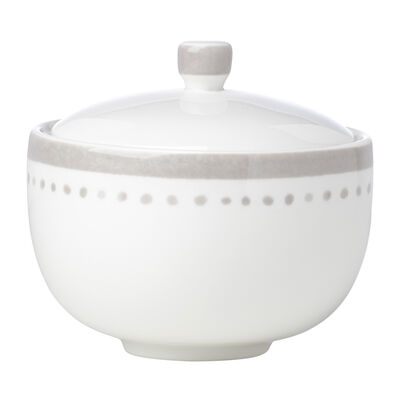 "Kate Spade New York ""Charlotte Street East"" Gray Sugar Bowl"