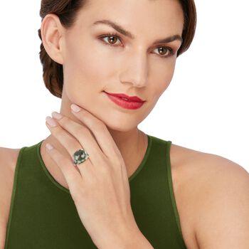10.00 Carat Green Prasiolite Butterfly Ring in Sterling Silver, , default