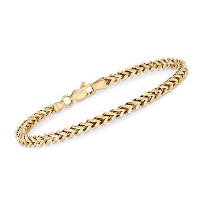 C. 1990 Vintage 14kt Yellow Gold Box-Link Bracelet, , default